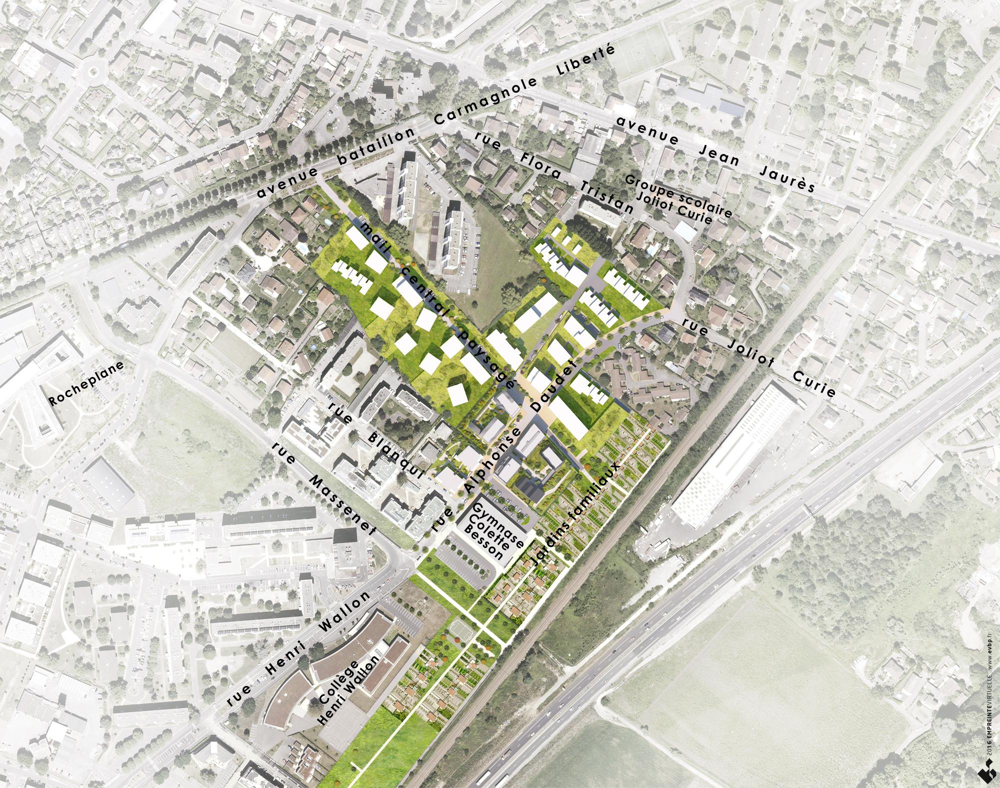 Plan d 39 am nagement et programme coquartier daudet for Plan masse architecture